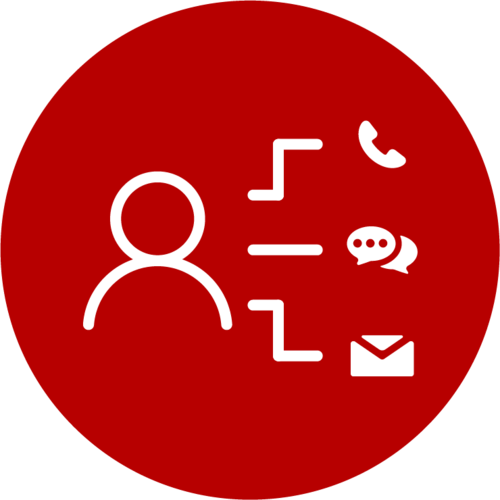 various communication methods icon - unified communications