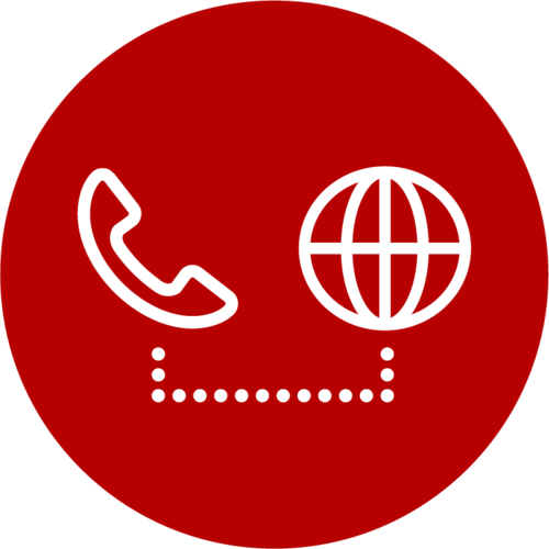 phone and globe icon