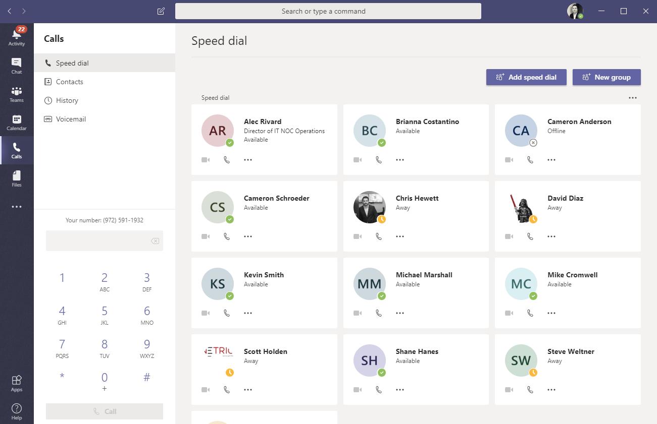 microsoft teams software screenshot